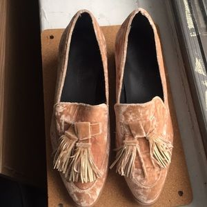 Rebecca Minkoff Edie Velvet Loafer Heel